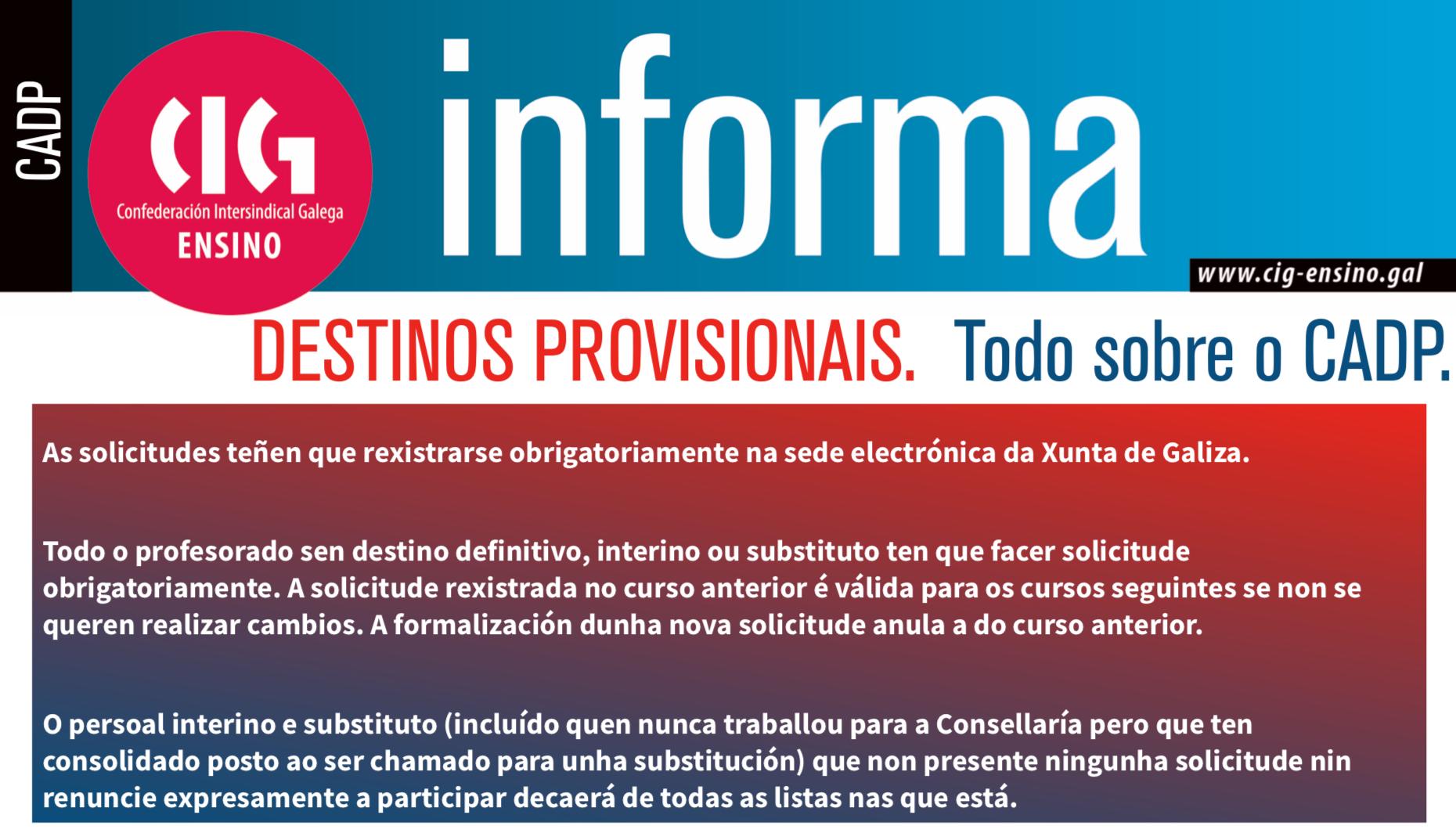 Calendario Laboral Ourense 2020.Destinos Provisionais Mestres Cig Ensino
